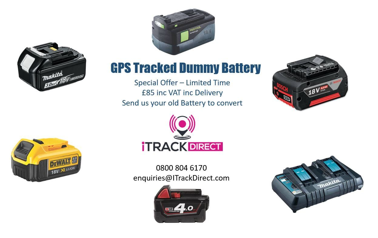 GPS Tracked Dummy Batteries