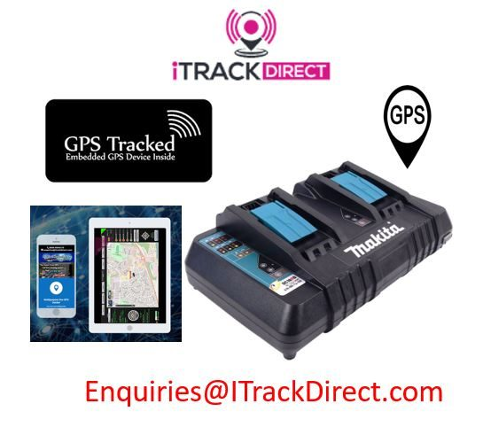 Dual Makita Charger with Embedded GPS Tracking inc 12 month UNLIMITED Tracking